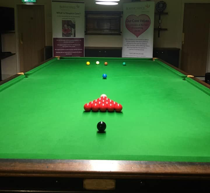snooker table - whitefield bowling club